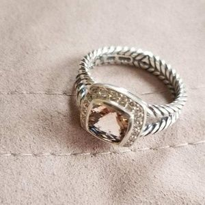 DY Sterling  Silver  Ring With Morganit,size 7